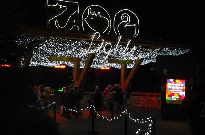 The Entrance to the Oregon Zoo Lights.